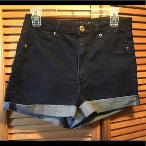 American Eagles Dark Super Stretch Jean Shorts
